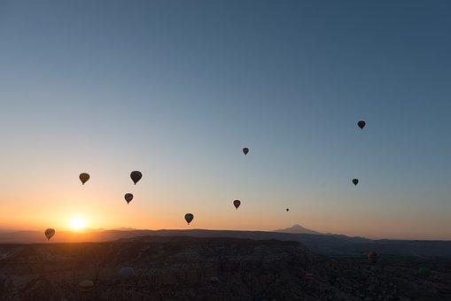 Hot-air Ballooning, Balloon, Cappadocia, Dawn