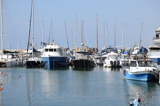 Boats, Harbor, Jaffa, Boat, Water, Sea, Port, Ship