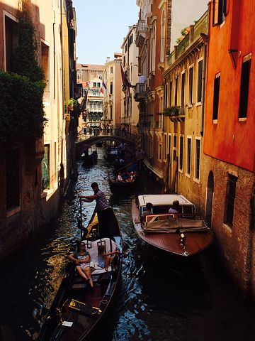 Venice, Channel, Gondola, Alley, Mood, Boats, Waterway