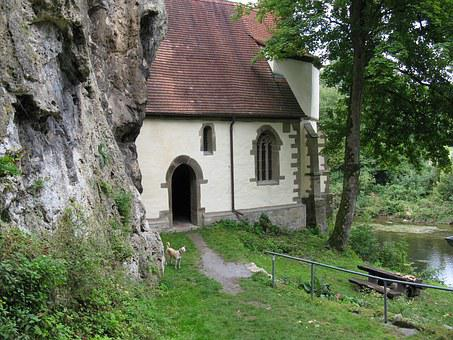Chapel, Church, Small Church, Building, Rock, River