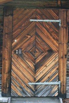 Barn, Door, Wood, Old, Wooden, Weathered, Texture