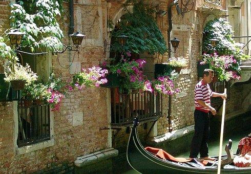Gondolier, Italy, Venice, Gondolas, Secondary Channel