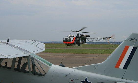 Flying Activity, Green Grass, Tarmac, Overcast Sky