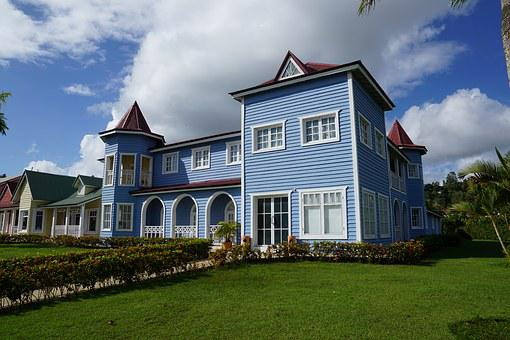 Samana, Caribbean, Woodhouse, Colorful, Wooden, House