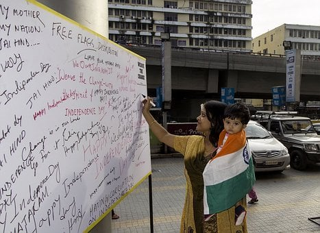 Indian, India, Independence, Tricolor, Country