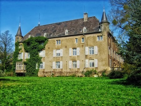 Differdange Castle, Luxembourg, Landmark, Historic