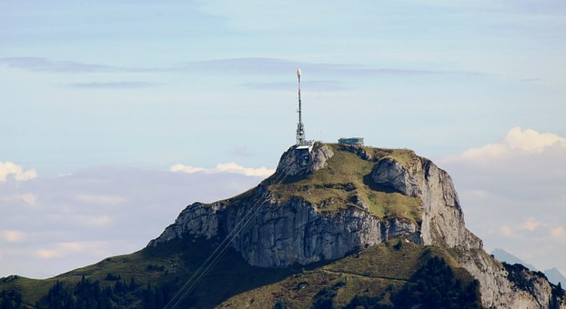 Mountains, Alpine, Alpstein, High Box, Cable Car