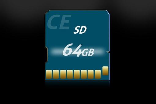 Sd Card, Memory, Map, Blue, Multimedia, Byte, Storage
