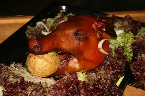 Pig, Food, Roast, Pig Roast, Meal, Kitchen, Cooking
