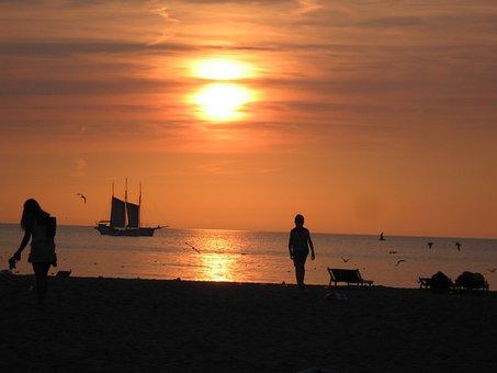 Sun, Doom, Beach, Scheveningen, Sea, Light, Coast