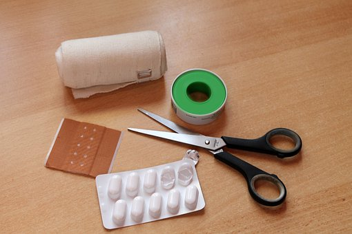 Patch, Tablets, Scissors, Ill, Medical, Tie, Patch Up