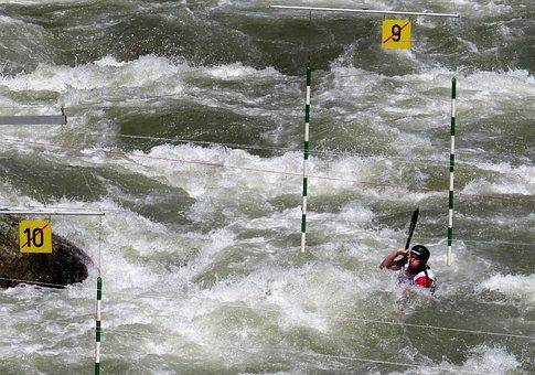 Kayak, Canoeing, Water Sports, Water, Action, Target