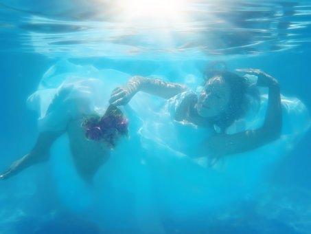 Underwater Bride, Underwater Wedding Dress, Bride