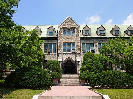 University, Ewha, Building, Architecure, Entrance