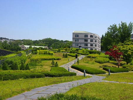 University, Ewha, Building, Architecure, Park, Garden