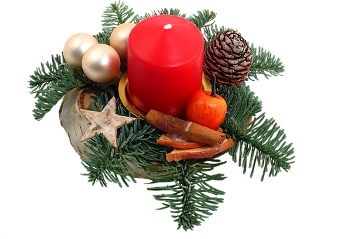 Isolated, Advent, Christmas, Candle, Silent Night