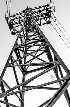 Derrick, Electricity, Cable, High-voltage Tower, Energy