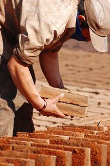 Handmade Bricks, Drying Bricks, Handmade, Dry, Brick
