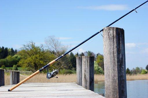 Fishing Rod, Fish, Angler, Fishing, Boardwalk, Lake