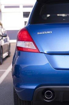 Rear, Auto, Suzuki, Vehicle, Lights, Blue, Brake Lights