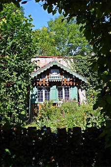 Garden Shed, Log Cabin, Romantic, Old, Mood, Garden