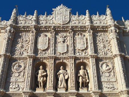 San Diego, Museum Of Art, Facade, Sculptures, Ornate