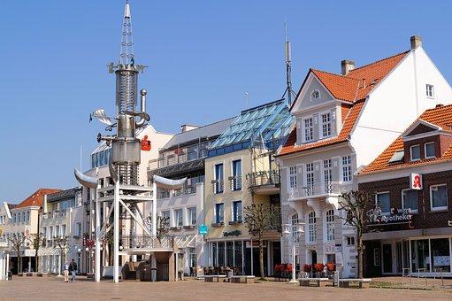 East Frisia, Aurich, Marketplace, Pedestrian Zone