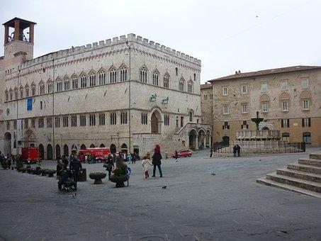Perugia, Umbria, Square Partisans, Fountain More