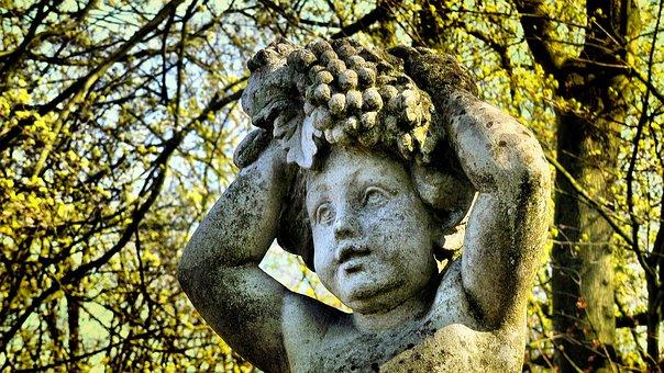 Statue, Sculpture, Boy, Castle, Park, Old, Art, Ancient