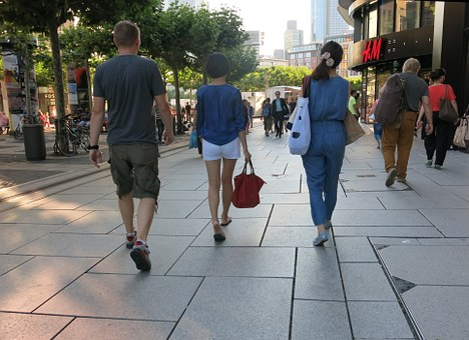 Pedestrian Zone, Shopping, Summer, City
