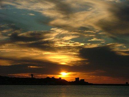 Sunset, Bay, St Jean De Luz