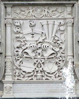 Twickel Castle, Netherlands, Relief, Coat Of Arms
