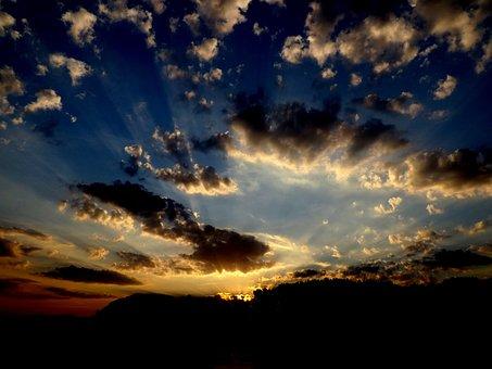 Sunset, Water, Reflection, Sun, Twilight