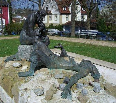 Stephen Of Saulus Fountain, Bronze, Winner Bait