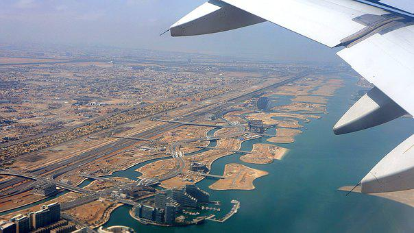 Take-off, View From Above, Abu Dhabi, U A E, Emirates