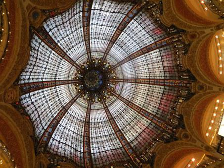 Architecture, Landmark, Famous, Galerie Lafayette