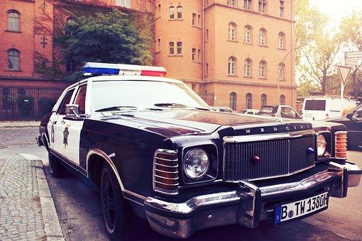 Police Car, Auto, Vehicle, City, Berlin, Police