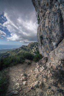 Background, Mountain, Dramatic, Pathway Rocks