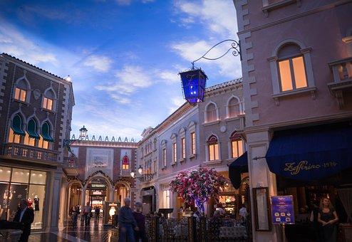 Venetian, Las Vegas, Christmas, Architecture, Building