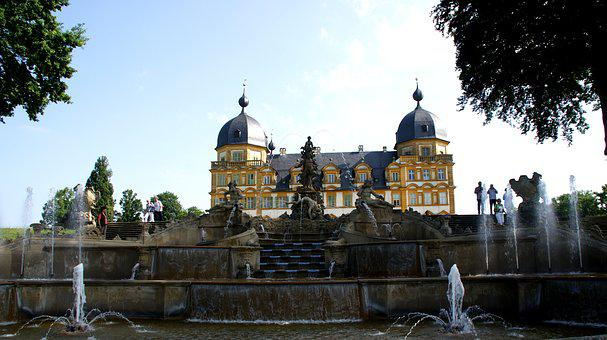 Water Games, Bayreuth, Hermitage, Park, Castle, Wagner