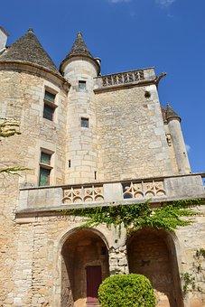 Castle, Tower, Chateau Des Milandes, Renaissance