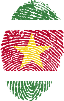 Suriname, Flag, Fingerprint, Country, Pride, Identity