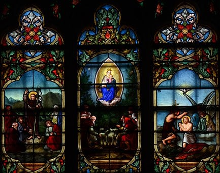 Notre, Dame, Cathedral, France, Architecture, Glass
