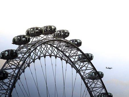 London, London Eye, Skyline, England, City