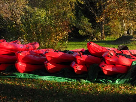 Canoes, Boats, Red, Canoeing, Boat, Paddle, Kayak