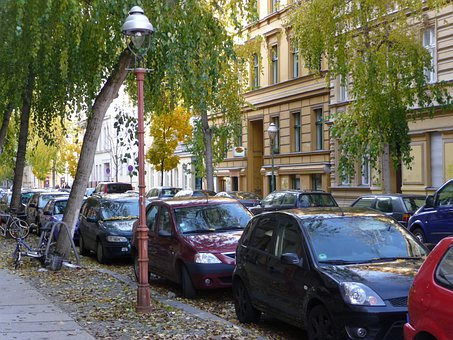 Road, Berlin, Germany, Gas Lantern