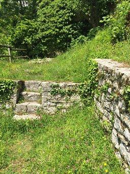 Ruin, Hermitage, St Ursanne, Stairs, Wall, Switzerland