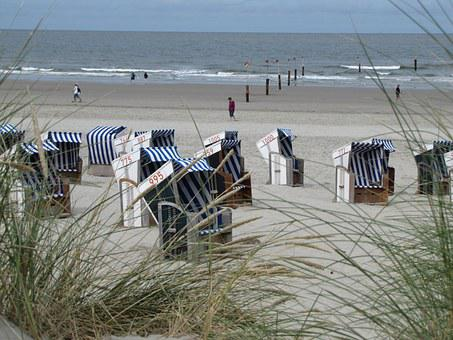 Summer, Beach, Beach Chair, Norderney, Island