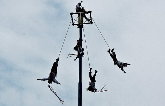 Papantla, Flying, Mexico, Veracruz, Height, Tradition