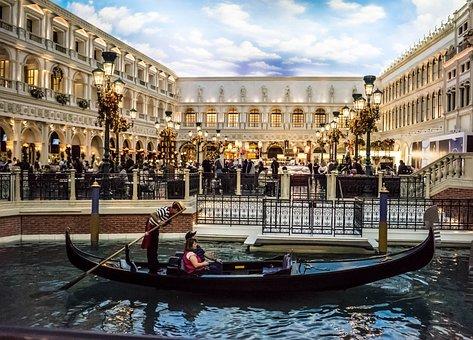Venetian, Las Vegas, Gondola, Christmas, Canal